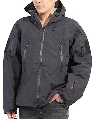 Umineko ウミネコ Umineko ブラック XL レインジャケット メンズ 耐水圧10000mm 透湿度10000g 防寒