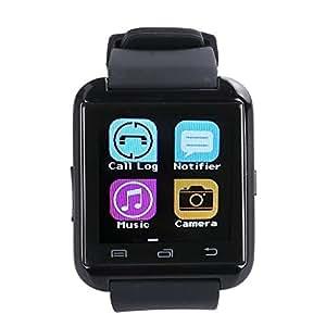 STK  U8 Bluetooth スマート ウォッチ Bluetooth 着信 通話 1.44インチ 超薄型液晶タッチパネル (ブラック)