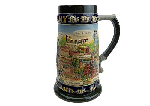 ヨーロッパの本質ギフトLegendsドイツのビールセラミックビールジョッキ