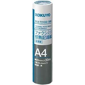 コクヨ FAX感熱記録紙A4 30m 芯25.4mm 6本