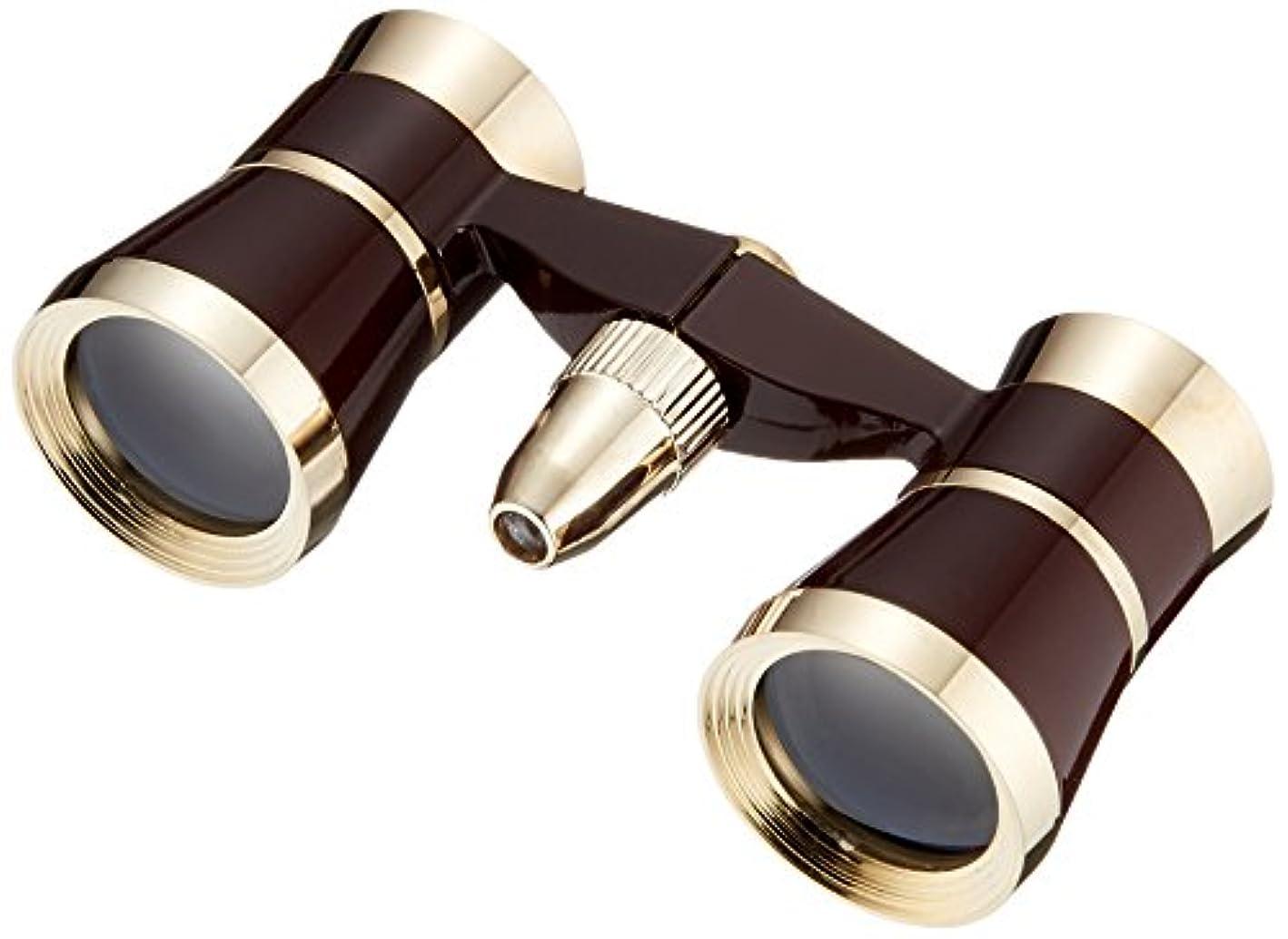 水銀の上院パートナーMIZAR オペラグラス 3倍 25mm 口径 ライト付き レッド BOL-325
