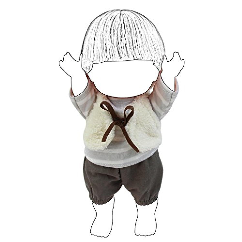 ZITA ELEMENT 26cm人形用服 きせかえ3点セット シャツ+ズボン+チョッキ