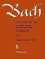 EDITION BREITKOPF BACH J.S. - KANTATE 48 ICH ELENDER MENSCH - CHANT, CHOEUR, PIANO Partition classique Vocale - chorale Choeur et ensemble vocal