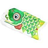 PETSOLA 鯉のぼり 凧児童祭 カラフル 鯉のぼり 風呂敷 野上恋 屋外装飾 子供の日 出産祝い 全3サイズ多色 - 緑, 15cm