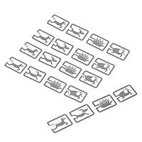 D DOLITY しおりクリップ 金属クリップ ペーパークリップ オフィス用品 収納便利 全5スタイル 約20枚入り - 動物スタイル