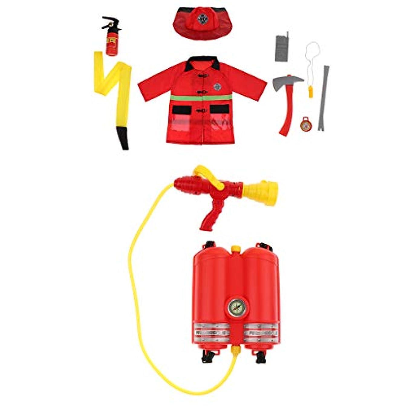 忘れるに頼る液体子供 消火器水溜まり 消防士 ロールプレイ 衣装 ハロウィンコスプレセット