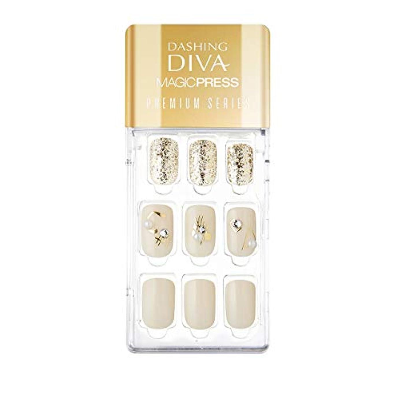 成熟脱獄困ったダッシングディバ マジックプレス DASHING DIVA MagicPress MDR_325PR-DURY+ オリジナルジェル ネイルチップ Cream Pottery