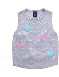 AKIEE 子供服 女の子 カーディガン セーター かわいい ニット アウター ガールズ 冬服 100-140