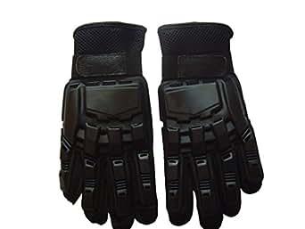【ノーブランド品】SWAT プロテクトフルフィンガーグローブ Mサイズ バイク BMX サバゲー ミリタリー 装備 手袋