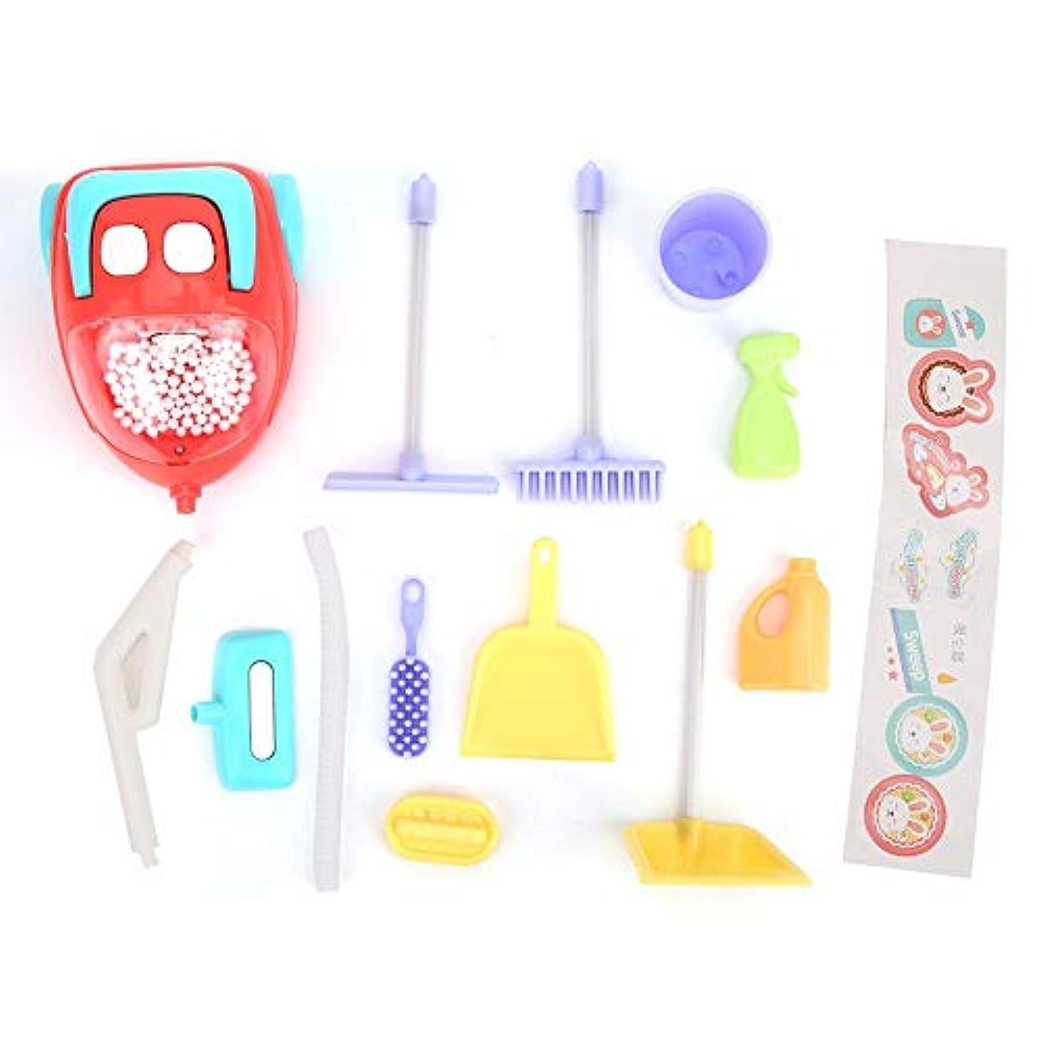 焼くどこにもやむを得ない絶妙な技量の掃除機のおもちゃ、面白い非常にシミュレーションの子供たち子供の掃除機のおもちゃ子供が遊ぶための3歳以上の子供(vacuum cleaner)