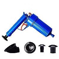 加圧式 Coquimbo 疏通ツールー パイプクリーナー パイプ掃除機 排水口クリーナ 加圧ポ, blue