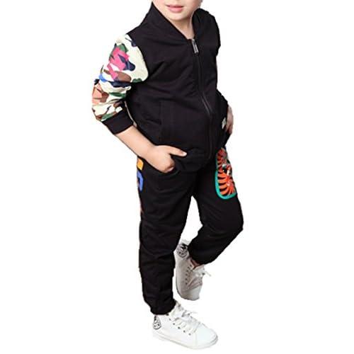 (ケイヨウ) JinYangボーイズ 子供服 ベビー ジャージー スポーツウェア カジュアル 上下セット 長袖 スウェット パーカー ブラック 110