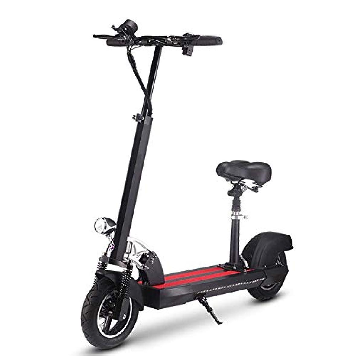 異議ジュラシックパーク債務電動スクーター折りたたみローラースクーター電動スクーター30 Kmリーチ電動スクーター大人と子供の高さ調節可能,黒,36V+15.6AH