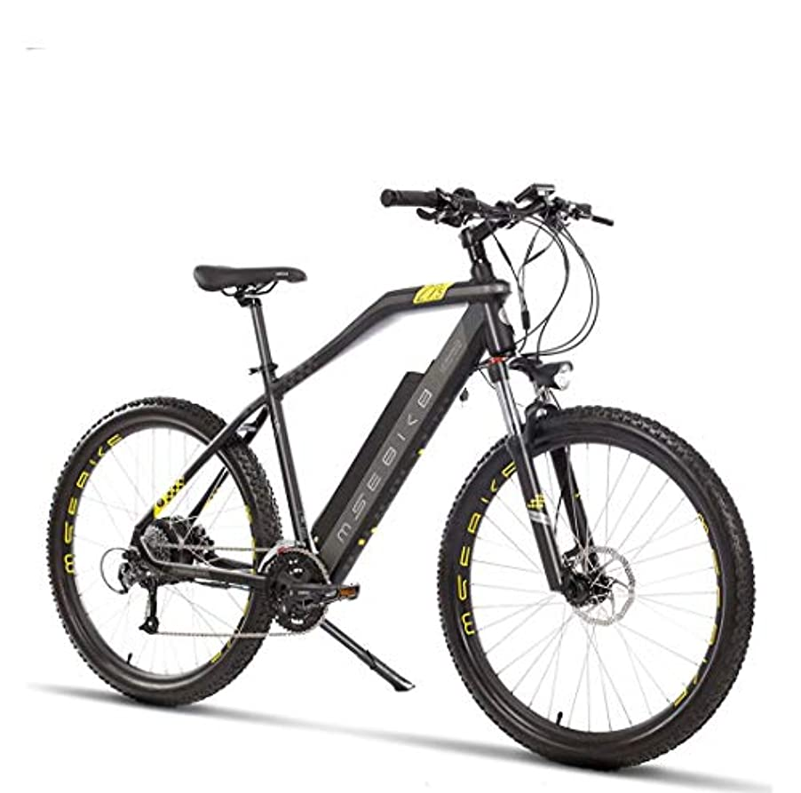 バイバイ置き場チャーミング27.5インチのアダルト電気マウンテンバイク、電動自転車、400W電動オフロードバイク、48Vリチウム電池合金航空宇宙グレードのアルミ,B