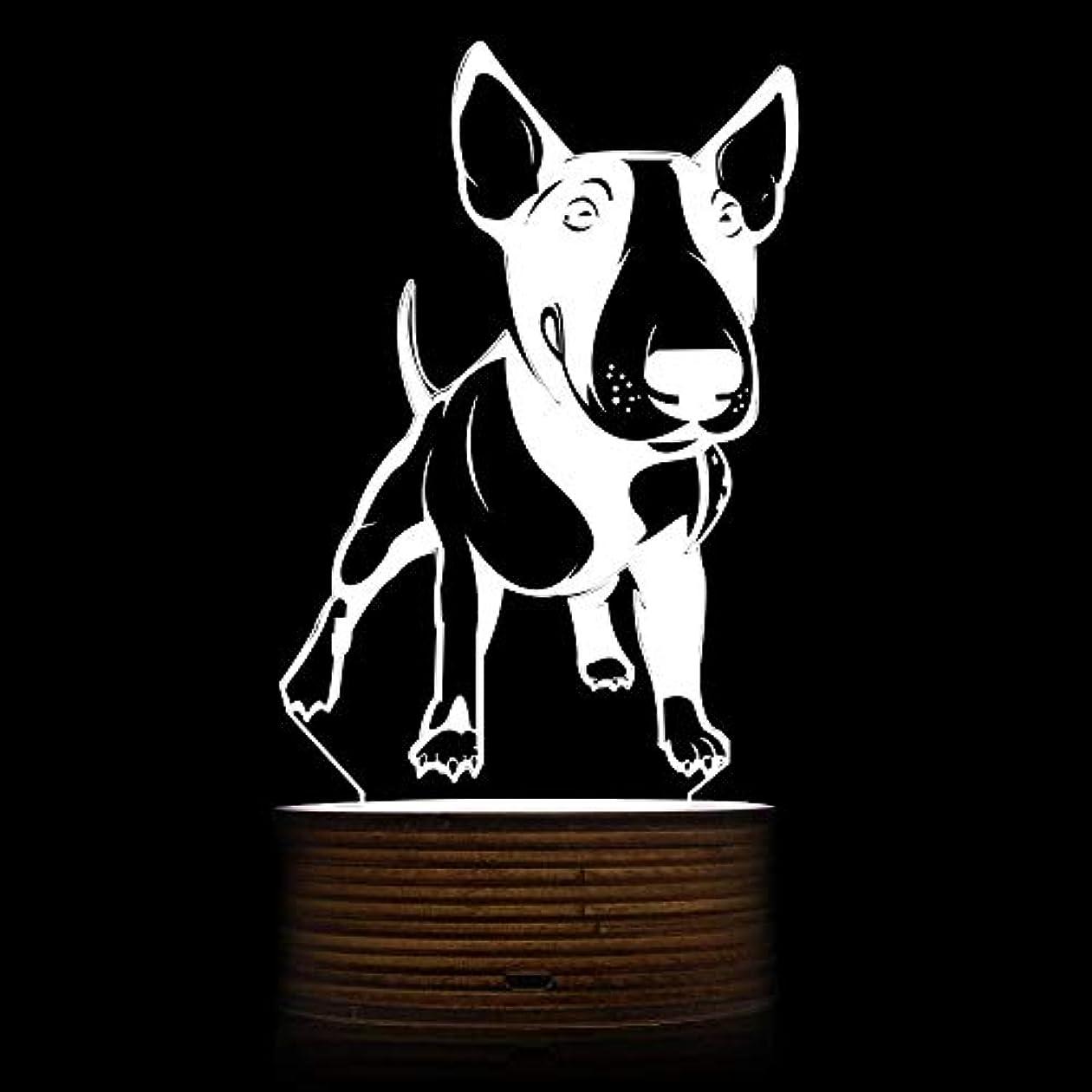 うぬぼれ魅惑する遠征ブルテリアLEDナイトライト3D装飾照明カラーアクリルライトギフト用犬愛好家、ブルテリア