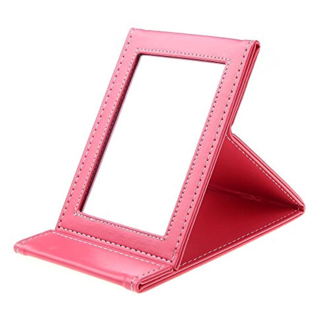 のヒープ有効化言うまでもなくSODIAL 多機能折り畳み式ポータブル化粧メーキャップミラー 旅行用(ピンク)