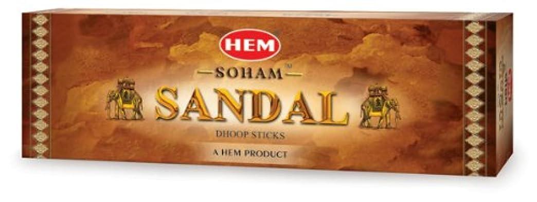 ケイ素自発的スライスHEM(ヘム) ソーアムサンダル香ドゥープ SOHAM SANDAL DHOOP 12箱セット