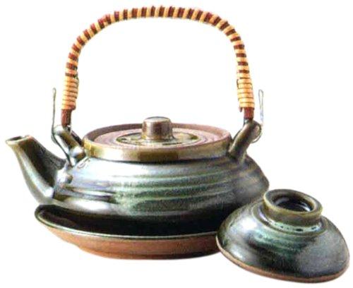 マルヨシ陶器 土瓶むしセット 平形織部 M2218