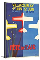 Fete De L 'air–Villacoublayヴィンテージポスター(アーティスト: Vic )フランスC。1925 16 x 24 Gallery Canvas LANT-3P-SC-73753-16x24