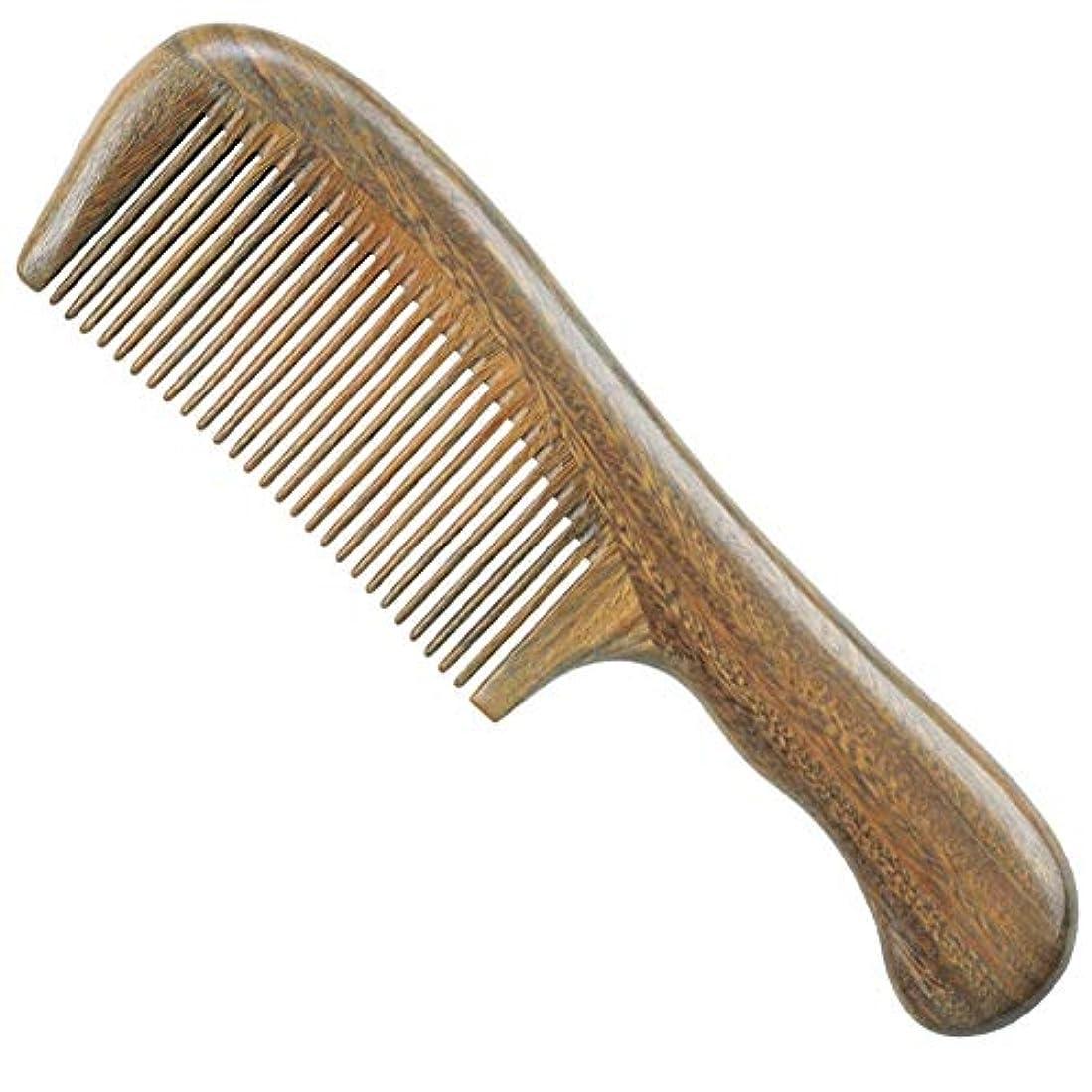 雄弁家せっかちより平らなGuomao グリーンビャクダンの櫛玉ビャクダンの木の櫛ファイン歯ストレートヘアコーム (Size : 18.5*5 cm)