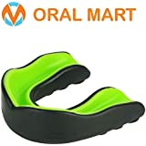 Oral Mart Sports Mouth Guard for Kids/Adults (9 Best Colors & 2 Outlet Deals) - BPA Free Sports Mouthguard for Karate, Flag Football, Martial Arts, Rugby, Boxing (with Vented Case)