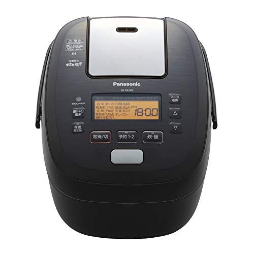 パナソニック 5.5合 炊飯器 圧力IH式 おどり炊き ブラック SR-PA109-K