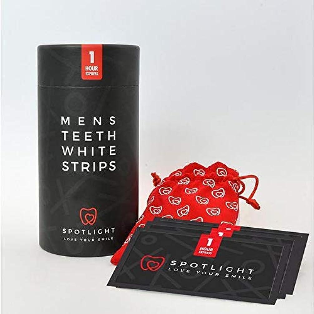 ウェーハドループメッセンジャー[Spotlight Teeth Whitening ] スポットライトホワイトニングメンズ歯白色ストリップ - SPOTLIGHT WHITENING MENS TEETH WHITE STRIPS [並行輸入品]