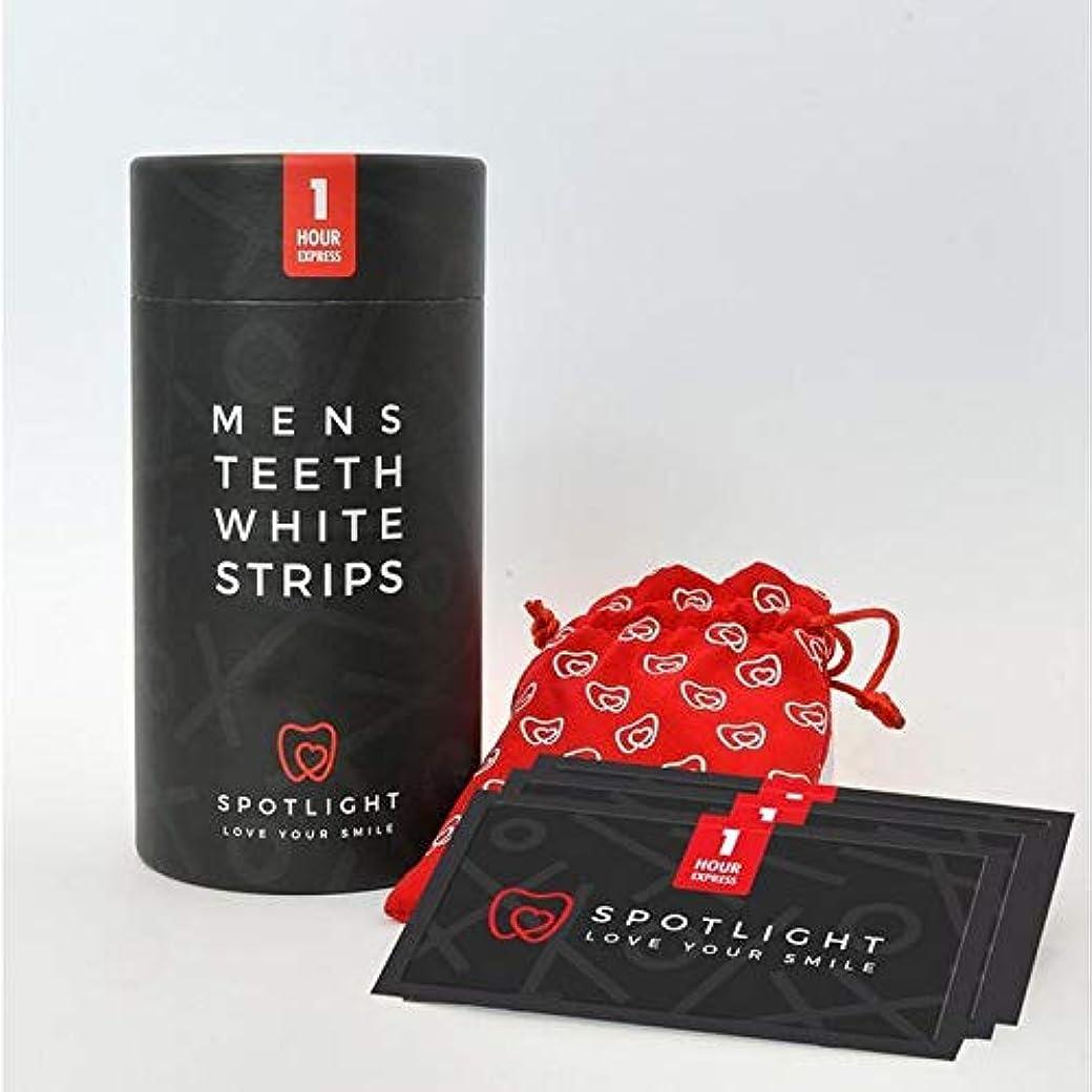 せっかちアクセスできない唯物論[Spotlight Teeth Whitening ] スポットライトホワイトニングメンズ歯白色ストリップ - SPOTLIGHT WHITENING MENS TEETH WHITE STRIPS [並行輸入品]