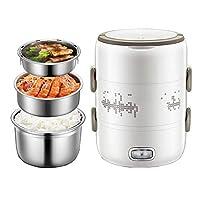 JANSUDY電気加熱弁当ステンレス鋼ライナープラグ電気炊飯器炊飯器