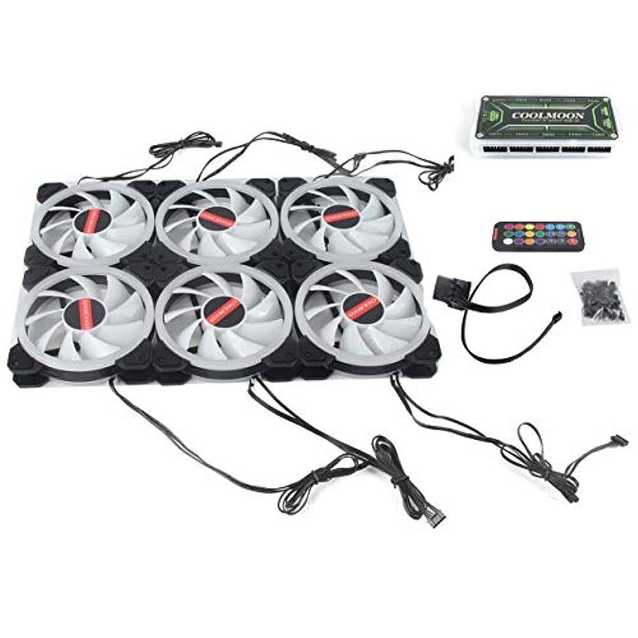 真っ逆さま番目検索コンピュータPCクーラーファンダブルリング366モードRGB LED 120mmファンCPUの高気流用の超静音ファン