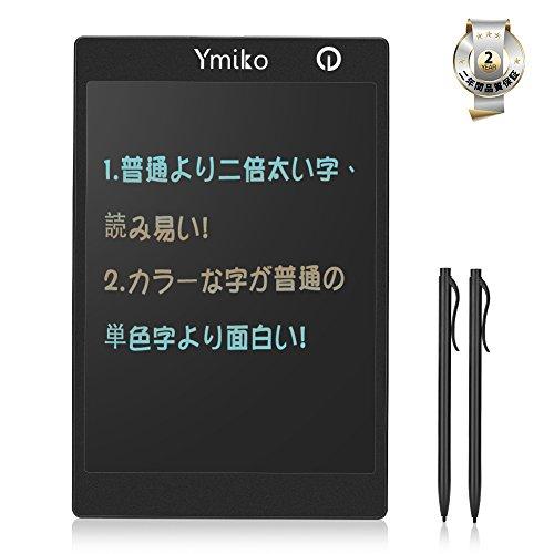 [해외]전자 노트 패드~ Ymiko 전자 수첩 전자 패드 굵은 선 9.7 인치 펜 2 개 포함 디지털 신호 필담 초안 용/Electronic memo pad~ Ymiko electronic notebook electronic pad thick line 9.7 inch pen with two digital notes for written draft