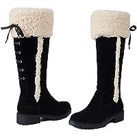 Ares Wool Long Boots Australian Sheepskin UGG Women Fashion Shoes Black (DK358)