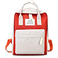 Adebie - Multifunction Women Backpack Fashion Youth Korean Style Shoulder Bag Laptop Backpack Schoolbags for Teenager Girls Boys Travel White red []