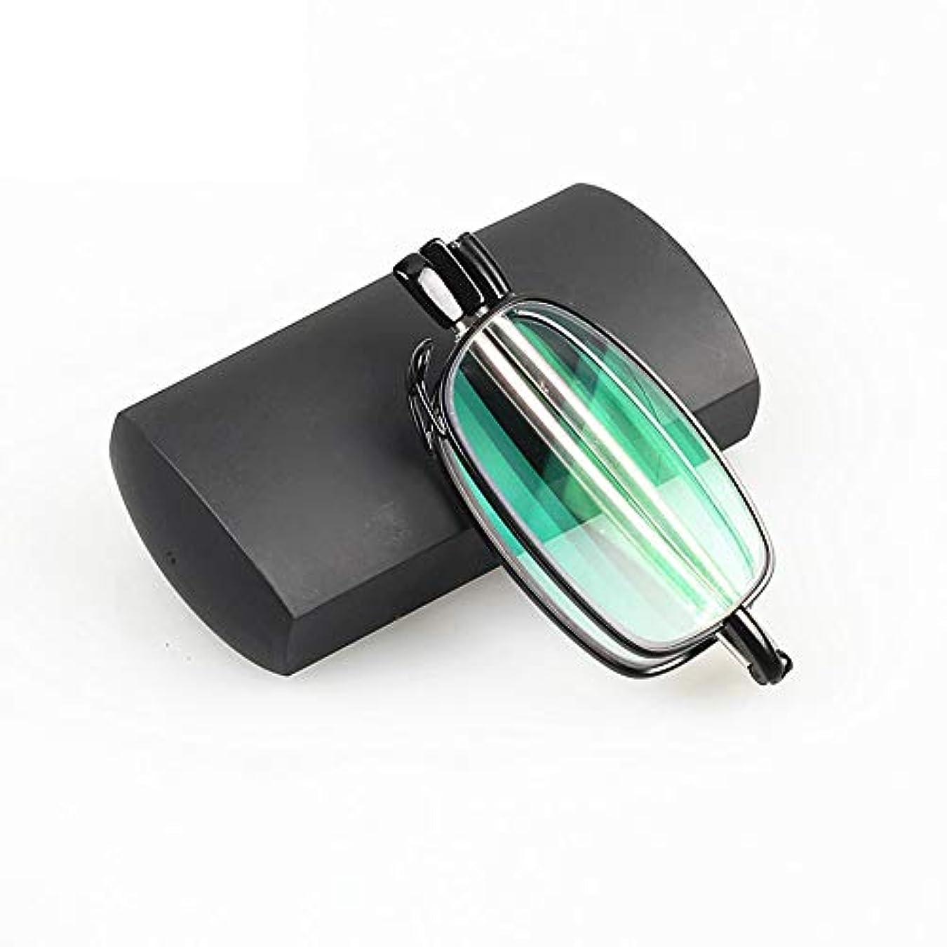 リテラシーリブペイント耐放射線老眼鏡、インテリジェント変色折りたたみ式と抗青抗疲労ミニ老眼鏡、男性と女性のための超軽量ポータブルポケット老眼鏡