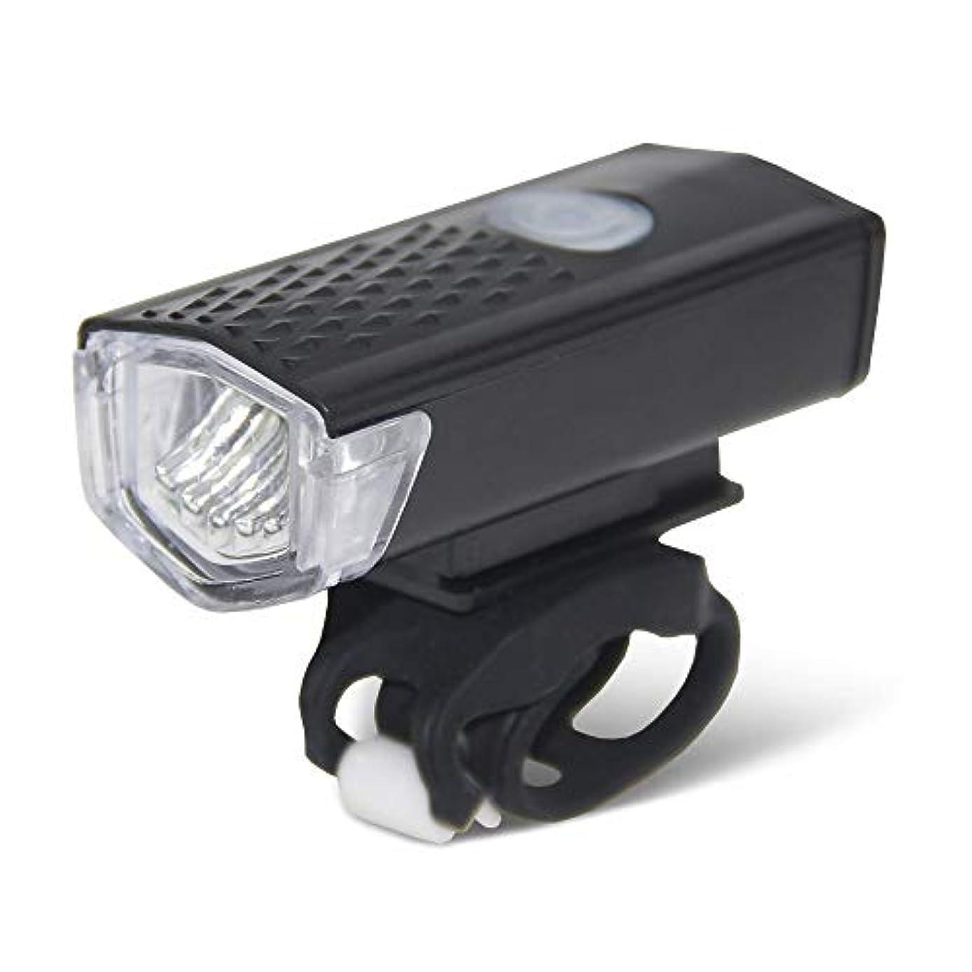 通貨一元化する掘るUSB充電式自転車ライト LED自転車ライトセット、充電式フロントライトテールライトコンビネーションLED自転車ライトセット、3モード、IPX4防水バイクライト (Color : Black)