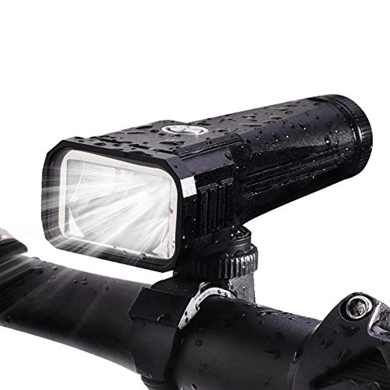 登山家ファンタジー急いでPowMax 自転車前照灯 懐中電灯兼用 IPX5 防水 防塵 USB充電式 1000ルーメン超高輝度 夜間使用 コンパクト 軽量 (ブラック)