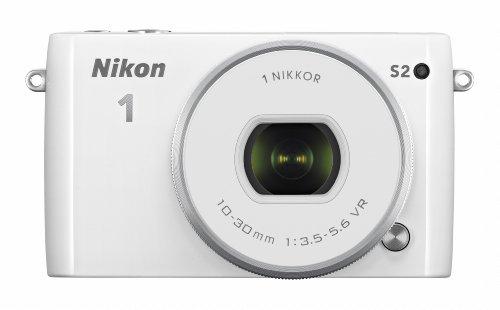 Nikon ミラーレス一眼 Nikon1 S2 標準パワーズームレンズキット ホワイト S2PLKWH