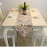 Nekovan テーブルクロスモダンシンプルな布のアートの長方形のテーブルの旗の装飾のテーブルクロスは、家族の装飾に適用 (色 : Multicolor, サイズ : 30*220CM)