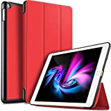 Pkila iPad Mini 5 2019 ケース 超薄型 超軽量 PU レザー スマートカバー 三つ折り スタンド スマートキーボード対応 キズ防止 ハニカム放熱 全面保護 オート スリープ iPad Mini5 専用(レッド)