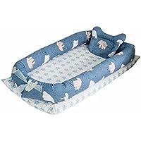 ベッドインベッド 添い寝ベッド 赤ちゃんベッド おむつ換え ベッドガード 取り外し洗濯可 枕付き 便利 通気性