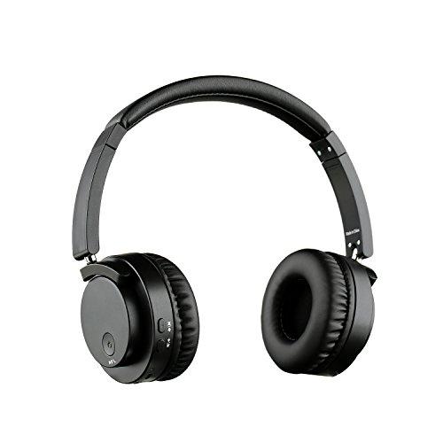 Mclife Bluetooth 4.0 密閉型 ヘッドホン ワイヤレス ステレオ ヘッドフォン マイク付き 折り畳み式 有線可能 NFC搭載 ( ブラック )
