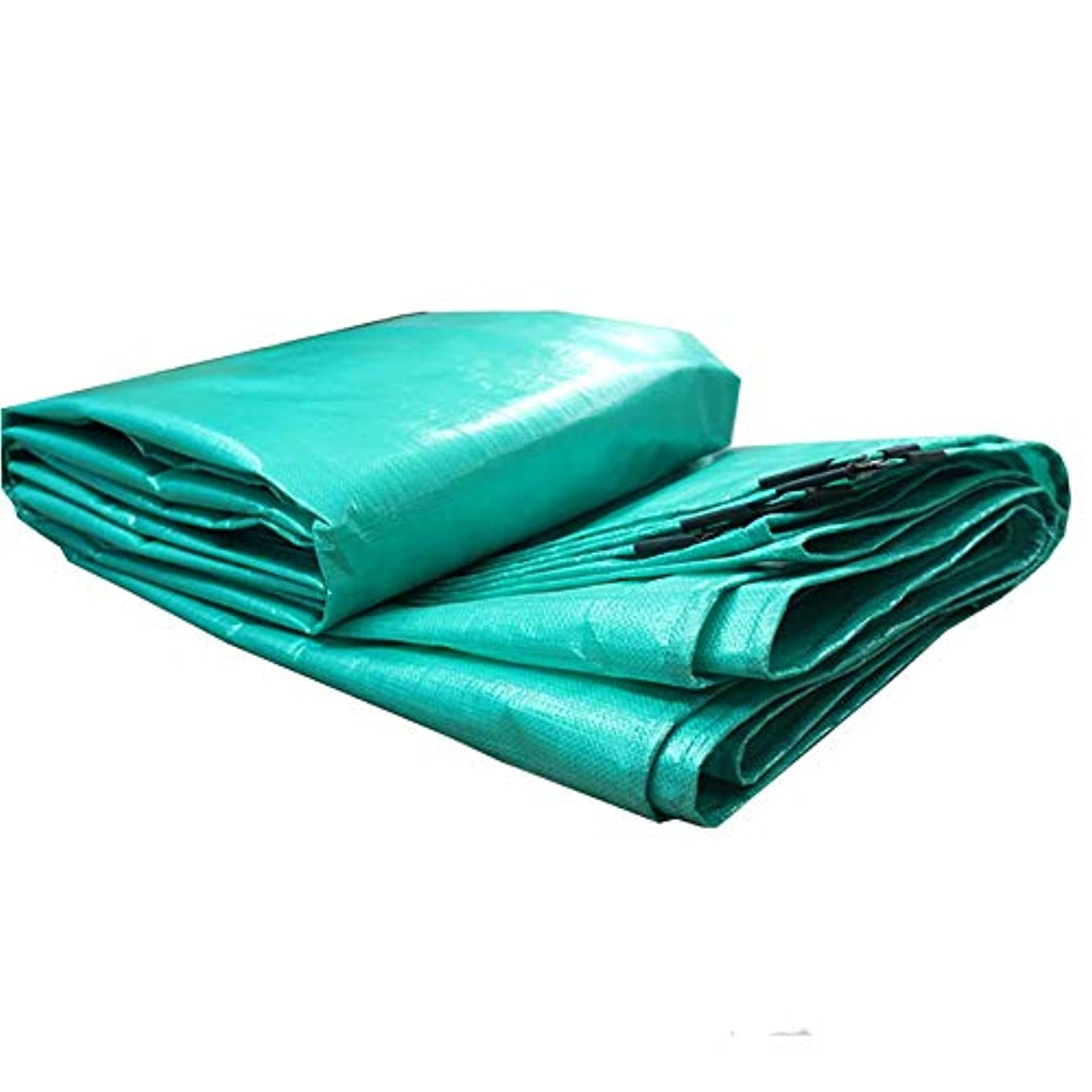 想定する障害つまらないWCH 緑色ポリエステル、アイレット付き多目的防水防水シート、180g / m 2