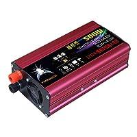 Funnyrunstore 500Wパワーインバーター12V / 24V to 220V自動車用電源インバーター、レッド&ブラック