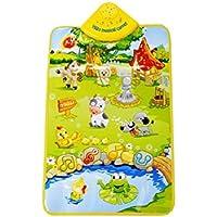 gqmartカーペットマットおもちゃファッションキッズベビーファーム動物ミュージカル音楽タッチSingingジムおもちゃギフト23.62 X 15.74 & Quot ;