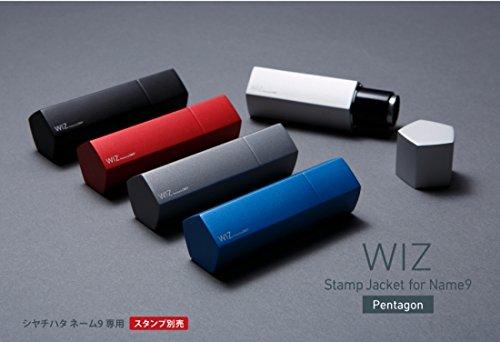 <国内正規品><Deff ディーフ> WIZ Stamp Jacket for name9 - Pentagon シャチハタ ネーム9用 アルミニウム製 マグネット付き (WAC-XL9PGR(グラファイト))