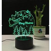 WZYMNYD クリスマス3d ledナイトライトタッチスイッチテーブルランプUSB 7色の部屋の装飾カラフルなLED照明用ギフト