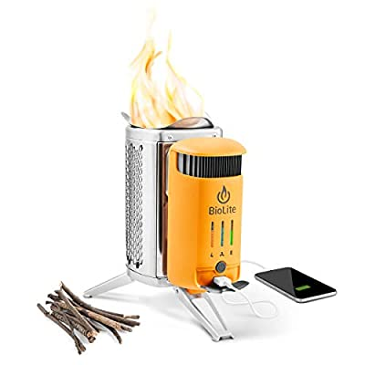 BioLite CampStove 2 Wood Burning and USB Charging Bundle