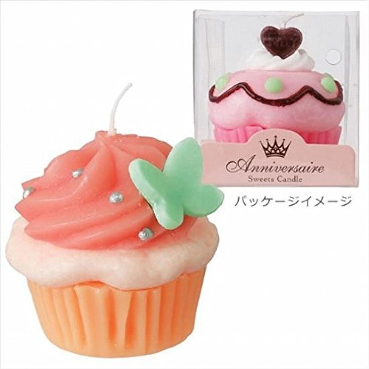 右靴下ユニークなカメヤマキャンドル( kameyama candle ) カップケーキキャンドル 「 ホイップベリー 」