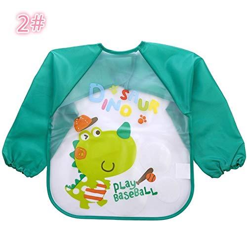 Elenxs Lovely Baby Bibs Infant Long Sleeve Waterproof Baby Feeding Smock Children Plastic Coverall Bib Toddler Scarf