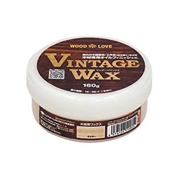 ニッペホームプロダクツ:VINTAGE WAX 木部用ワックス塗料 クリヤー 160G